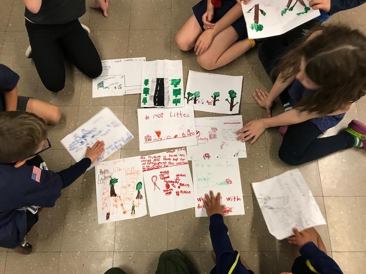 Kids designing together